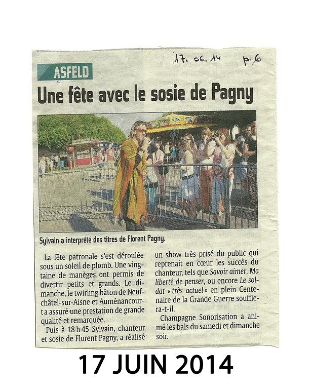 Juin 2014 à Asfeld Show Florent Pagny
