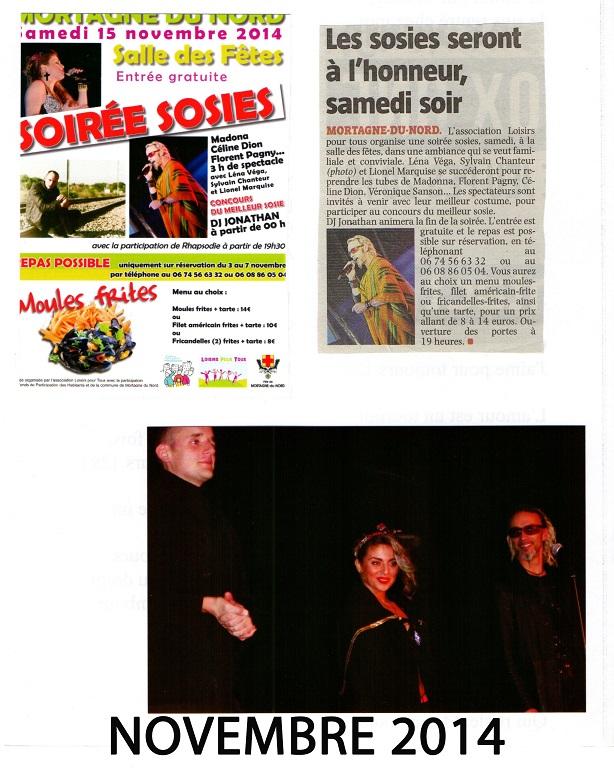 Novembre 2014 Soirée Sosies Show Florent Pagny