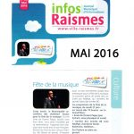 Journal municipal de raismes Mai 2016