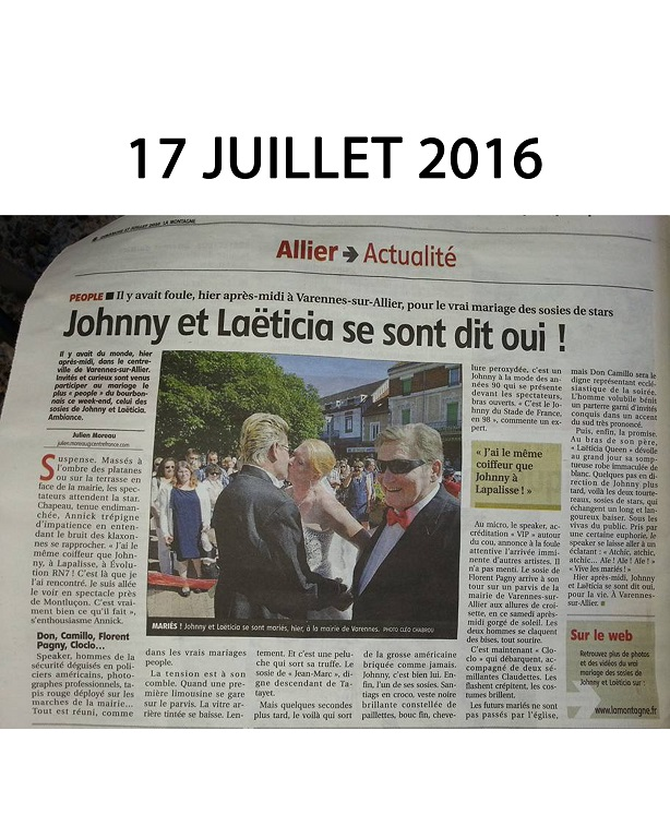 17 Juillet 2016 article de presse la montagne